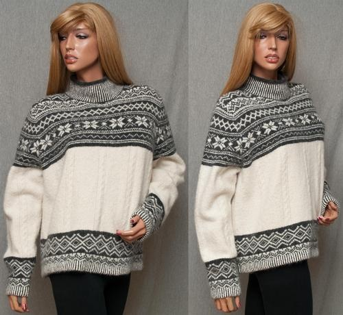 #SOLD! on Ebay VALERIE STEVENS FUZZY ANGORA NORDIC FAIR ISLE SOFT COZY WINTER SKI XMAS SWEATER  Women's Vests #2dayslook #fashion #Vests www.2dayslook.com: Women'S Vest, Fair Isle