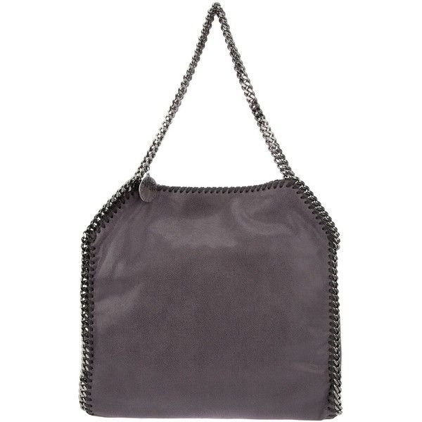 Stella McCartney 'Falabella' Tote ($1,195) ❤ liked on Polyvore featuring bags, handbags, tote bags, faux leather tote bag, vegan tote bags, tote handbags, stella mccartney tote and purple purse