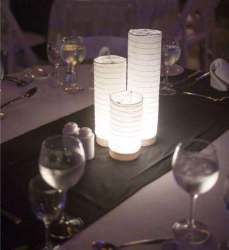 Paper Lantern Centerpiece Lights