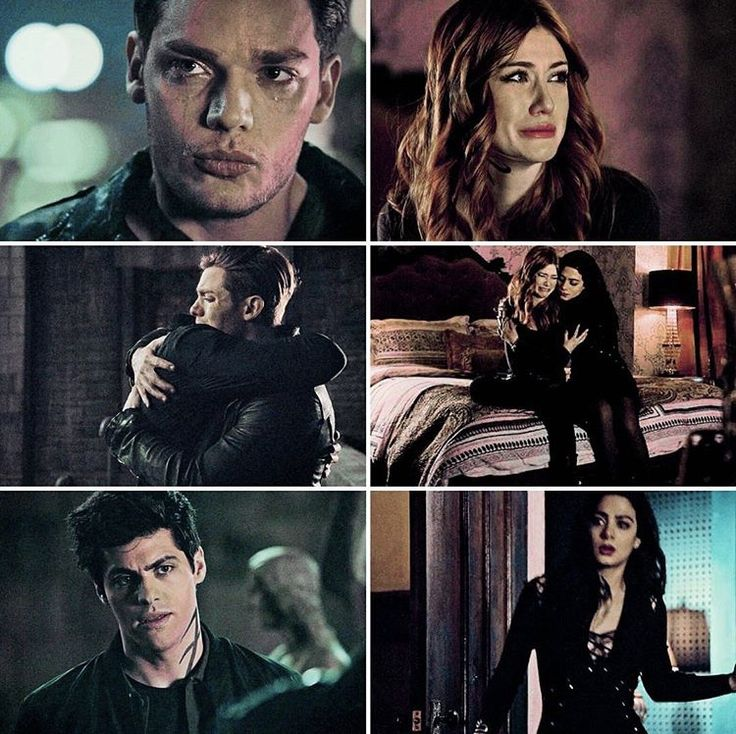Shadowhunters — Alec & Isabelle comforting Jace & Clary