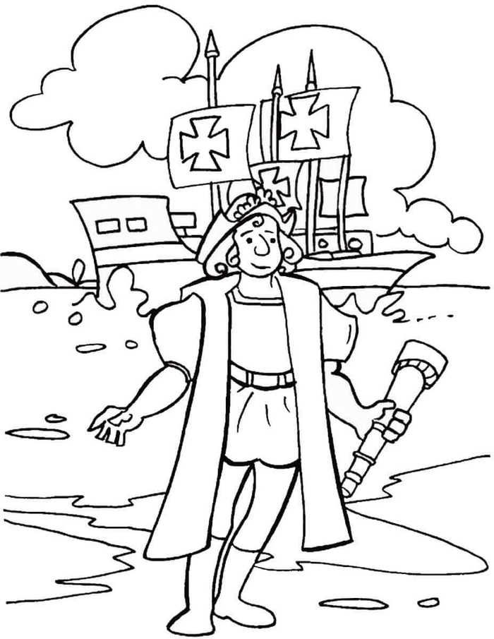 Free Columbus Day Coloring Pages Printable Columbus Day