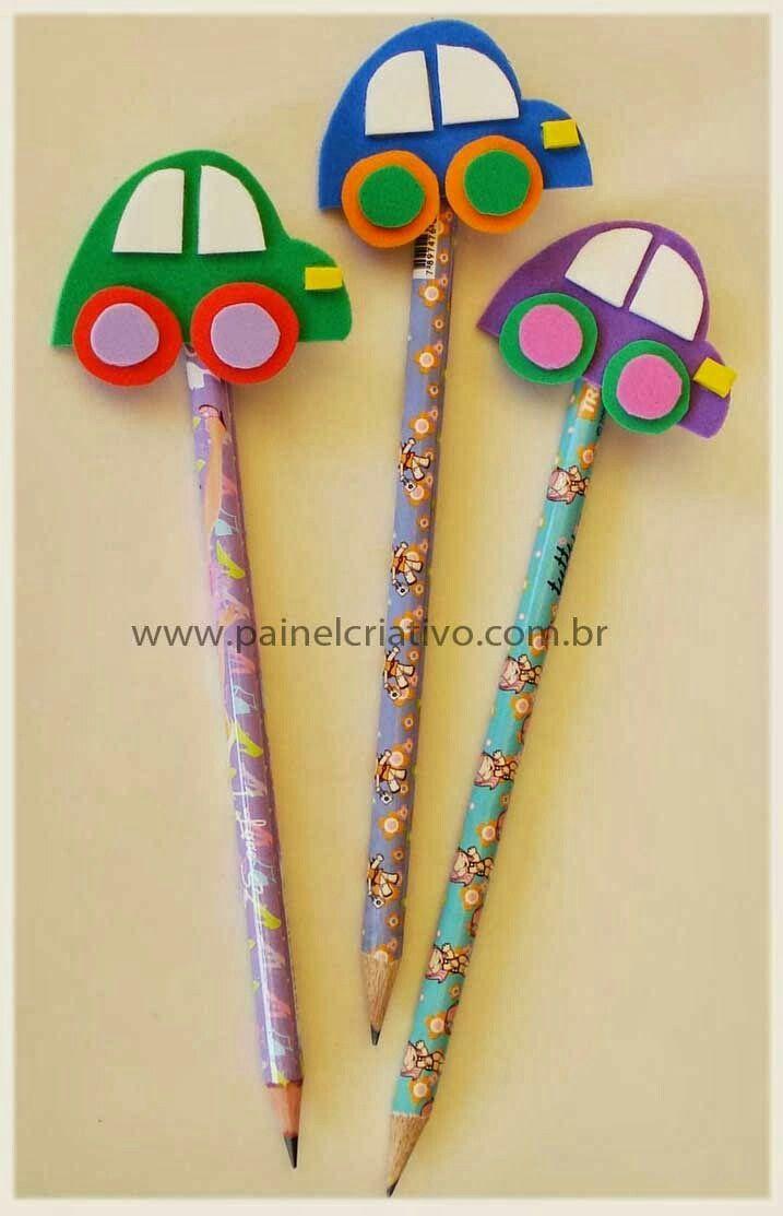 Utiliza foamy o goma eva para decorar lapices y usarlos como obsequios en fiestas o eventos escolares. Los lápices son artículos muy económ...