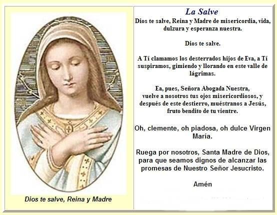 Poderosa Oracion DIOS TE SALVE REINA Y MADRE