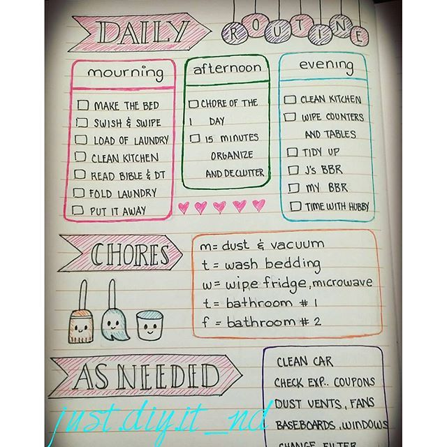 Added my routines to my bullet journal! Not always I do them perfectly but they help to keep my home - just.diy.it_nd