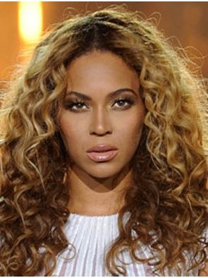 """20"""" Blonde Curly Great Beyonce Wigs"""