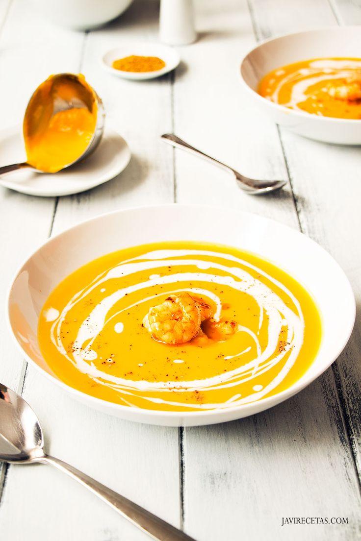 Esta Crema de Calabaza al Curry viene genial como #receta de #calabaza para #Halloween
