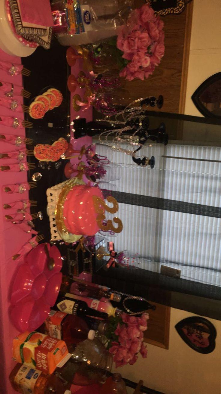 Kickback Party Girls Night Pink Decorations 18th