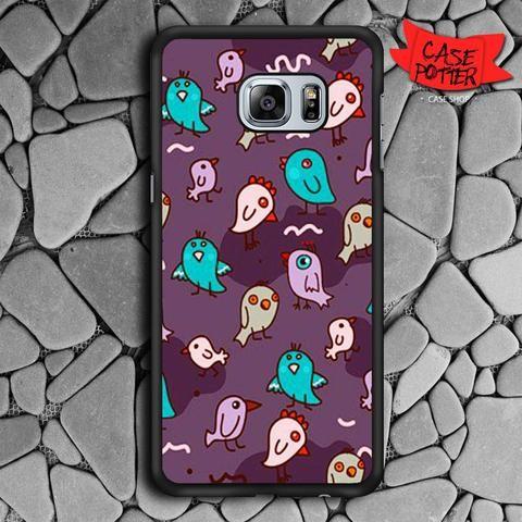 Pattern Little Chicken Samsung Galaxy S6 Edge Black Case