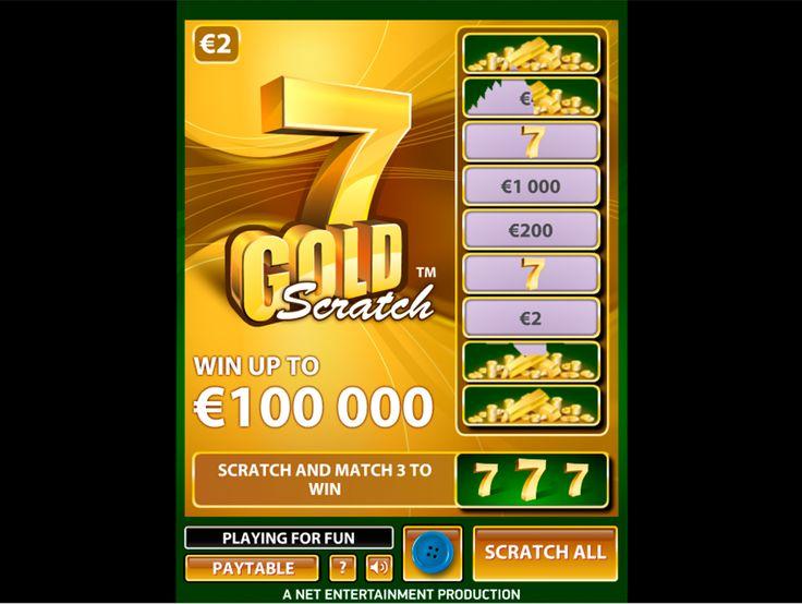 Errate dein 7 Gold beim online #Rubbellose spielen! Teste das super spannendes #NetEnt Losespiel