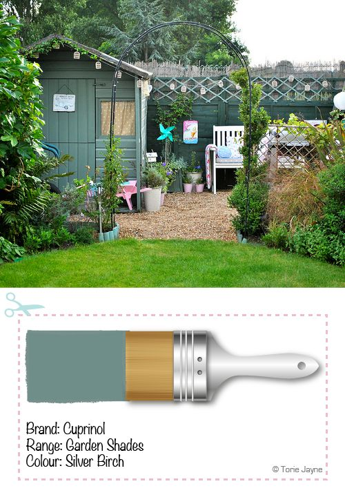 What colour did you paint your garden shed? Painted shed example #garden