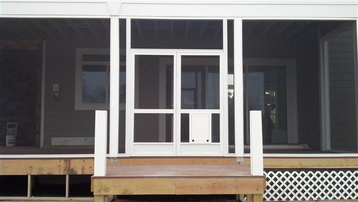 A100 Double-French Doors w/ Astragal and Integrated Pet Door... screened w/ Super Screen