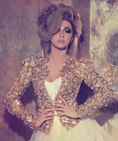 Gold blazer - Myriam fares