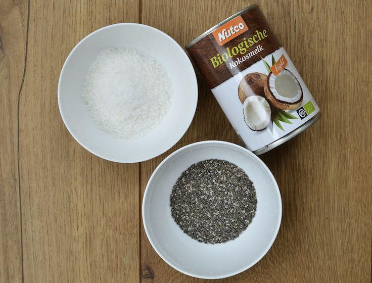 Recept voor een gezond ontbijt met kokosmelk en chiazaad ideaal voor op zondag