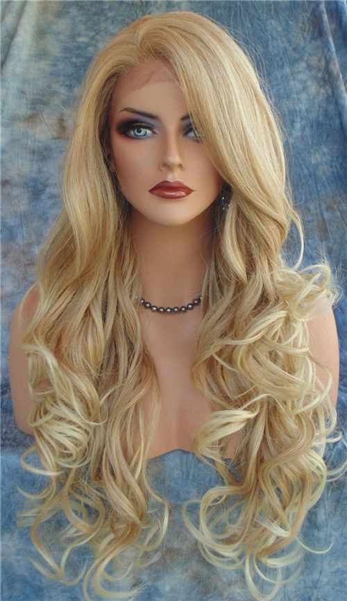 New Heat Resistant Synthetic Women lovely hurman wigs fluffy long hair Wavy wig #Liyangwig #FullWig