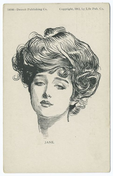 Jane by Charles Gibson, c. 1903 via The New York Public Library