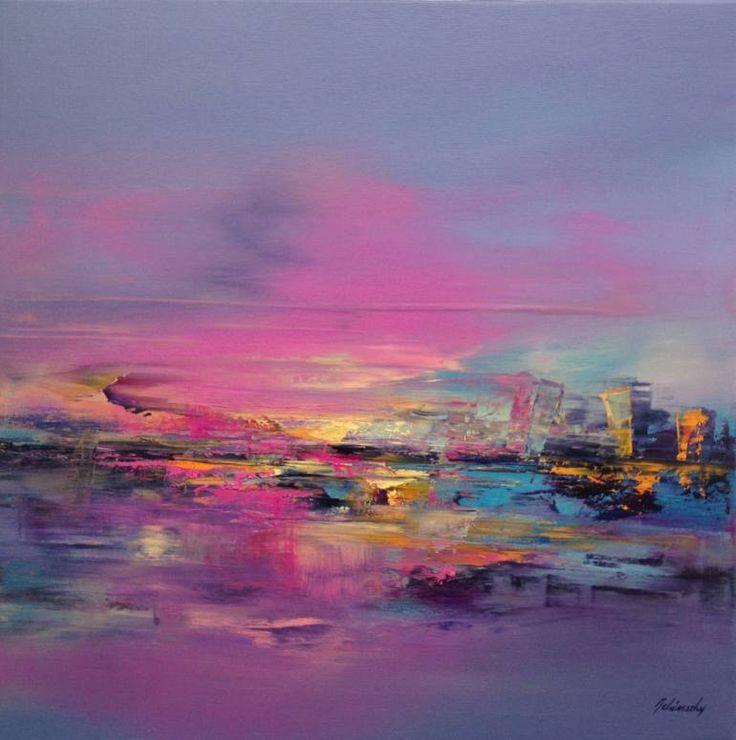 "Saatchi Art Artist Beata Belanszky-Demko; Painting, ""Purple Wind"" #art  1090$"