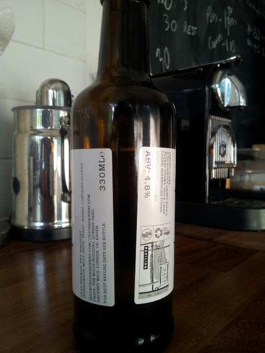 Rear of 330ml bottle again showing detail of location, %ABC, tasting notes