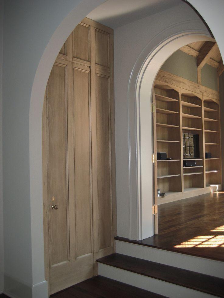 Paneled powder room door. Birmingham, Alabama by Bill Ingram Architect www.billingramarchitect.com
