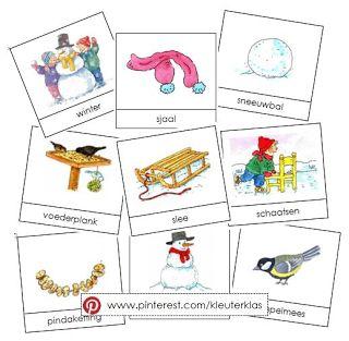 Kleuterklas: Activiteiten met woordkaarten (Dagmar Stam) | Thema WINTER