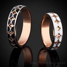 Обручальные кольца с эмалью. Модель 2116