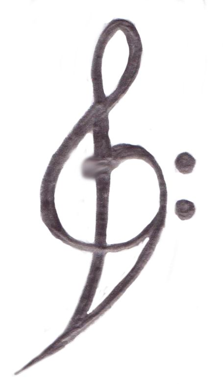 I always like the combined treble and bass clef designs.