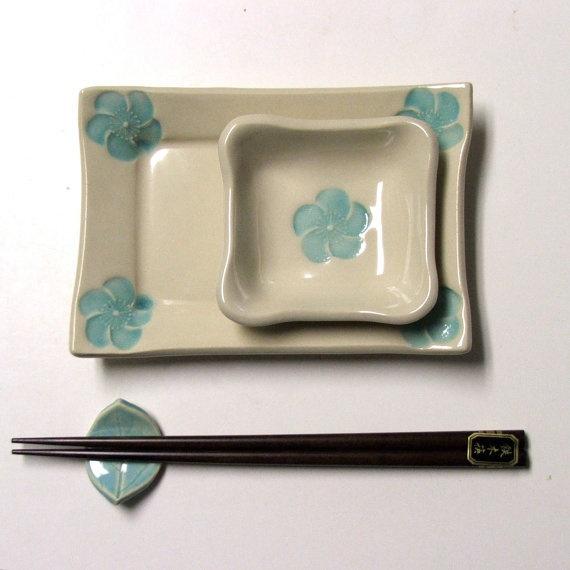 Handmade and pretty sushi set