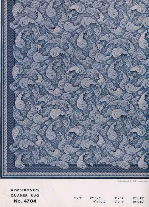 31 linoleum rugs from armstrong 1954 vintage 1950s for Linoleum flooring for sale