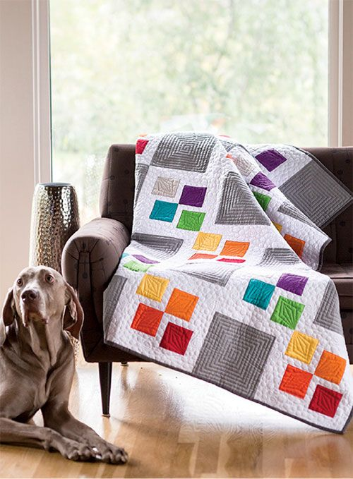 Modern Digital Quilting Patterns : - Gray Square Scramble Digital Pattern modern quilt designs Pinte?