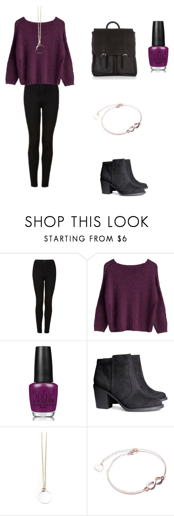 """""""Allison Argent Outfit"""" by zoegeorgiou2001 on Polyvore featuring Topshop, OPI, H&M and Accessorize"""