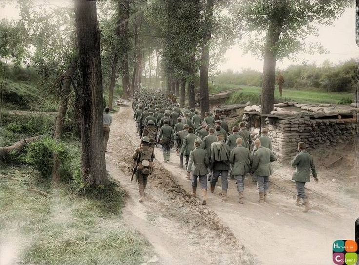 German prisoners coming in from Thiepval, 15 September 1916.  The Battles of the Somme: Battle of Flers-Courcelette, 15 - 22 September 1916