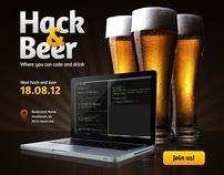 Hack & Beer by Marcin Banaszek, via Behance