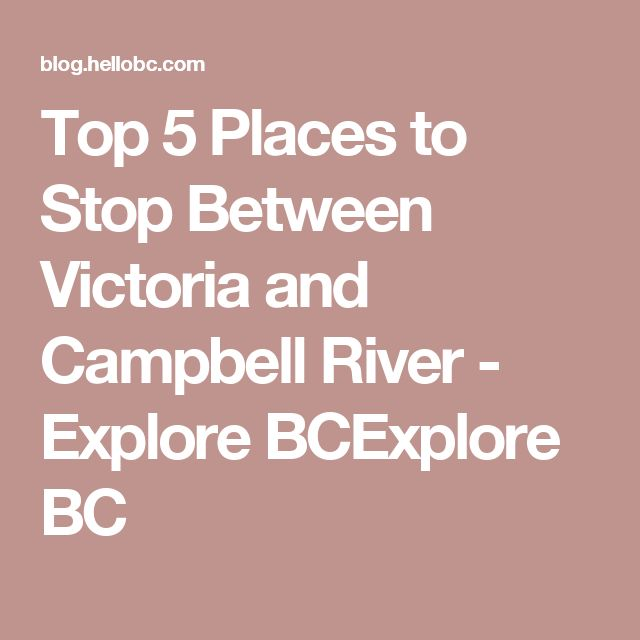 Top 5 Places to Stop Between Victoria and Campbell River - Explore BCExplore BC