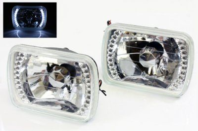 Toyota Pickup 1982-1995 White LED Sealed Beam Headlight Conversion
