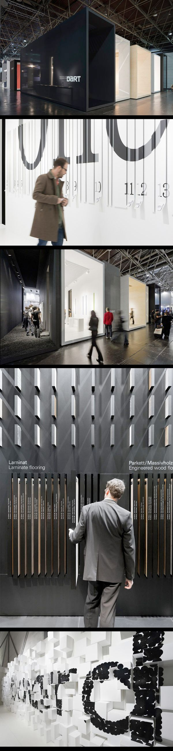 Fantastic applications of typography on varying surfaces by Düsseldorf-based D'art Design Gruppe (EuroShop 2011)