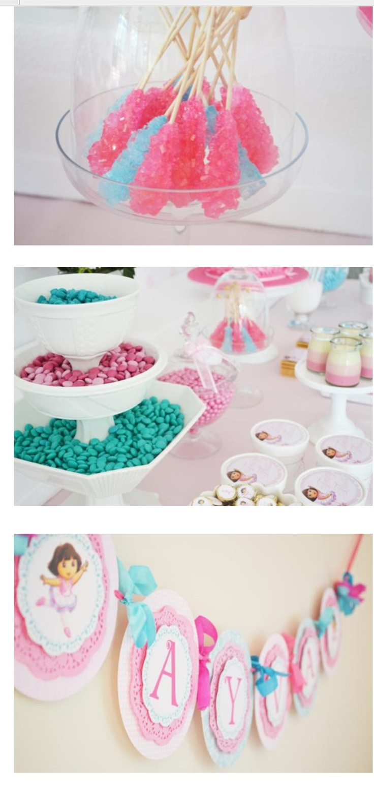 Dora the Explorer BALLERINA themed party via Kara's Party Ideas karaspartyideas.com