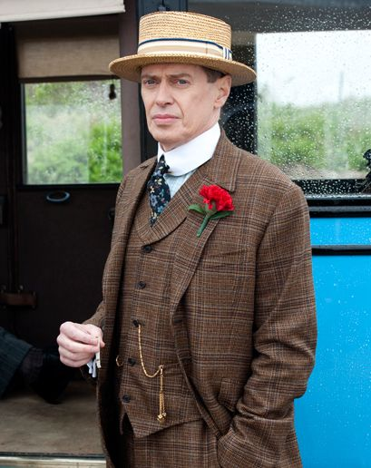 Nucky Thompson wins the 2011 sartorial crown in Don Draper's absence.   Best show!!!