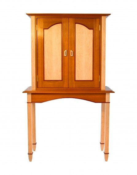 My Custommade Purple Heart Hutch With Mahogany And Maple.By Brian Brace  Fine Furniture Maker