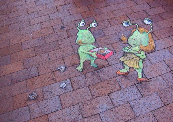 Best Street Art David Zinn Images On Pinterest David Zinn - David zinns 3d chalk art adorably creative