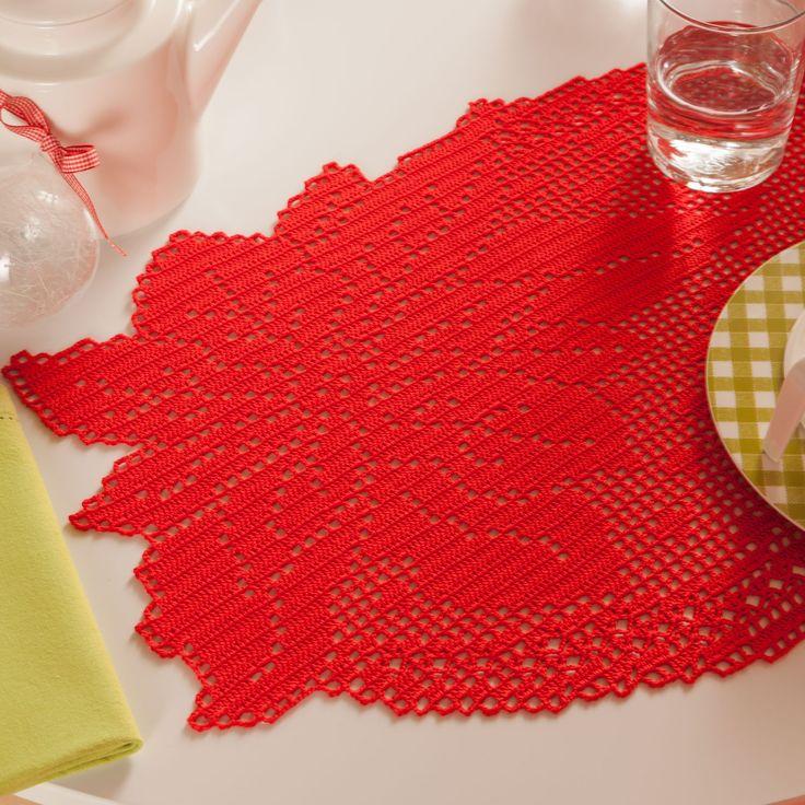 Occorrente, 4 gomitoli di cotone Cablè rosso per