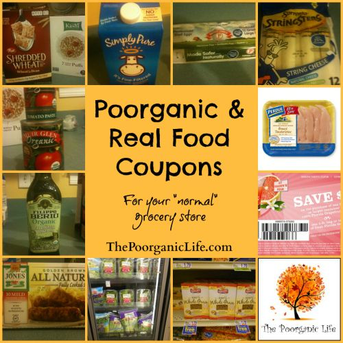 Great list of companies that provide coupons (usually quarterly) that make real food coupons