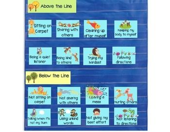Sort cards for above the line - cute animal theme