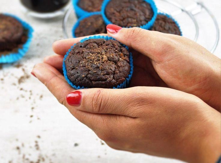 Gezonde chocolade cupcakes
