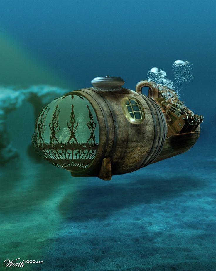 Bathyscaphe #steampunk #travel #transport