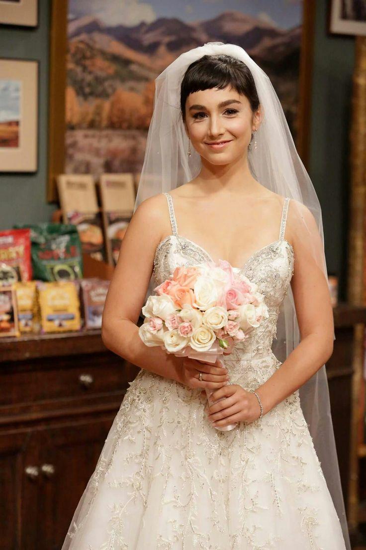 Last man standing Mandy in her wedding dress to wed Kyle