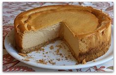Low Fat Pumpkin Cheesecake - Nutritional Info & Weight Watchers Points Plus included