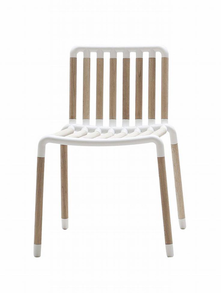 Tube Chair stol i bøg og aluminium, designet af KiBiSi for Hay
