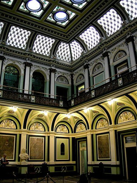 Atrium of Halifax Town Hall, West Yorkshire, England Photograph Courtesy of Gail Musgrove, please add to any re-pin