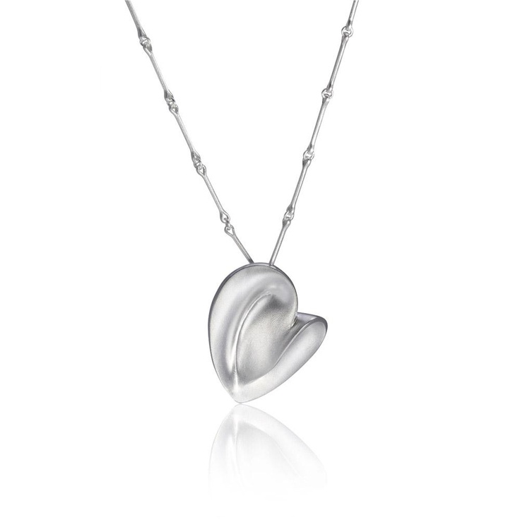 "Pekka Hirvonen for Lapponia Jewelry,  ""Heartbeat"" necklace, in silver. 