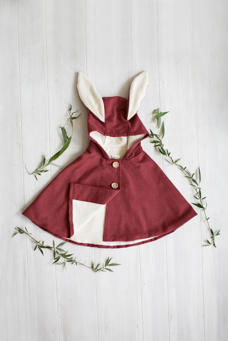 Red Corduroy Rabbit Cape | Tortoise & the Hare Clothing