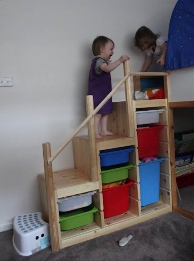 Safe stairs for kids room.